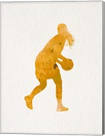 Basketball Girl Watercolor Silhouette Part III Fine-Art Print
