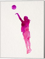 Basketball Girl Watercolor Silhouette Part IV Fine-Art Print