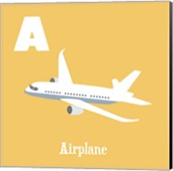 Transportation Alphabet - A is for Airplane Fine-Art Print
