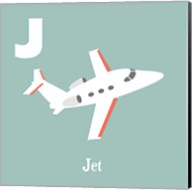 Transportation Alphabet - J is for Jet Fine-Art Print