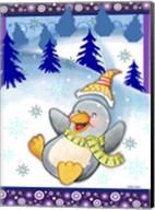 Penguin Slide Fine-Art Print