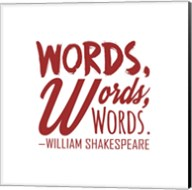 Words Words Words Shakespeare Red Fine-Art Print
