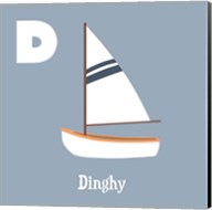 Transportation Alphabet - D is for Dinghy Fine-Art Print