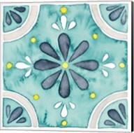 Garden Getaway Tile I Teal Fine-Art Print