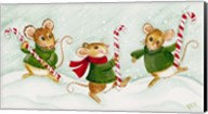 3 Mice With Candy Canes Fine-Art Print