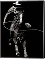 Scratchboard Rodeo VIII Fine-Art Print