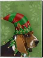 Basset Hound, Elf Hat Fine-Art Print