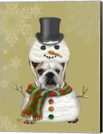 English Bulldog, Snowman Costume Fine-Art Print