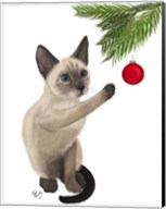 Siamese Cat and Bauble Fine-Art Print