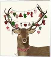 Deer, Homespun Decorations Fine-Art Print