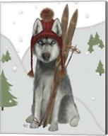 Husky Skiing Fine-Art Print