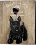 Dog Au Vin, Scottish Terrier Fine-Art Print