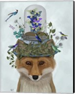 Fox with Butterfly Bell Jar Fine-Art Print