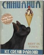Chihuahua, Black, Ice Cream Fine-Art Print