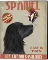 Cocker Spaniel, Black, Ice Cream Fine-Art Print