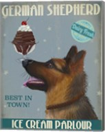 German Shepherd Ice Cream Fine-Art Print