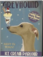 Greyhound, Tan, Ice Cream Fine-Art Print