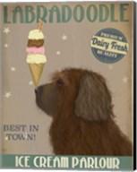 Labradoodle, Brown, Ice Cream Fine-Art Print