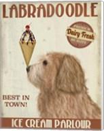 Labradoodle, Golden, Ice Cream Fine-Art Print