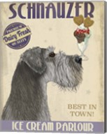 Schnauzer, Grey, Ice Cream Fine-Art Print