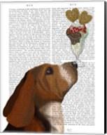Basset Hound Ice Cream Fine-Art Print