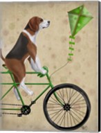 Beagle on Bicycle Fine-Art Print