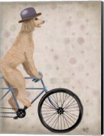 Poodle on Bicycle, Cream Fine-Art Print