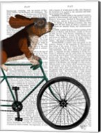 Basset Hound on Bicycle Fine-Art Print