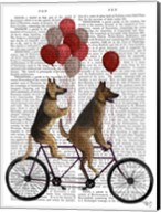 German Shepherd Tandem Fine-Art Print