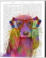 Rainbow Splash Cocker Spaniel, Portrait Fine-Art Print