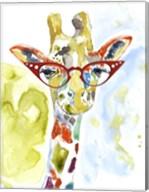 Smarty-Pants Giraffe Fine-Art Print