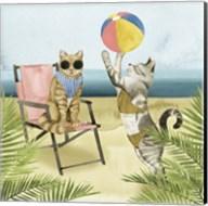 Coastal Kitties I Fine-Art Print