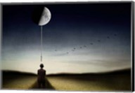 Man And The Moon Fine-Art Print