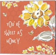 Bee Happy III Spice Fine-Art Print