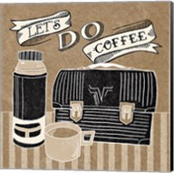 Let's Do Coffee Taupe Fine-Art Print