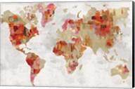 Red Map Fine-Art Print