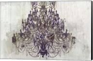Plum Chandelier on White Fine-Art Print