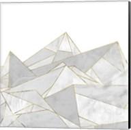 Marbled Geo Mountains I Fine-Art Print
