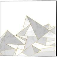Marbled Geo Mountains II Fine-Art Print