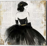 Lady in Black Dress Fine-Art Print