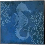 Navy Sea horse Fine-Art Print