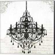 Black Chandelier II Fine-Art Print