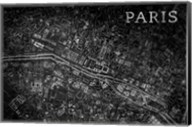 Map Paris Black Fine-Art Print