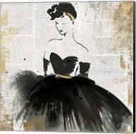 Lady in Black I Fine-Art Print