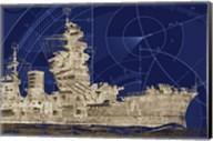 Blueprint Submarine I Fine-Art Print