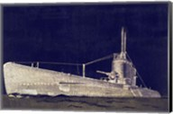 Blueprint Submarine II Fine-Art Print