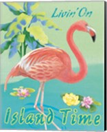 Island Time Flamingo II Fine-Art Print