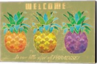 Island Time Pineapples Welcome Fine-Art Print