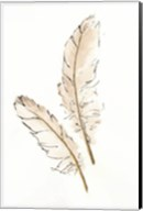 Gold Feathers I Fine-Art Print