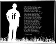 If by Rudyard Kipling - Man Silhouette Black Fine-Art Print